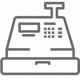 cashier, machine icon