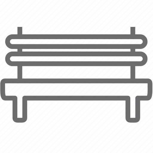chair, furniture, park, seat icon