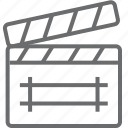 clapboard, clipboard, media icon