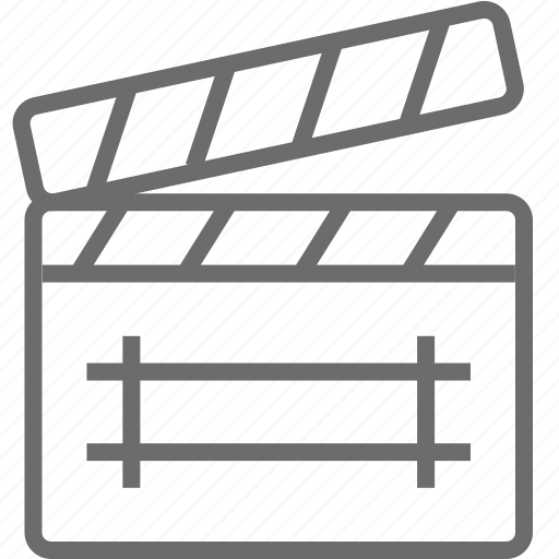 clapboard, clipboard, media icon