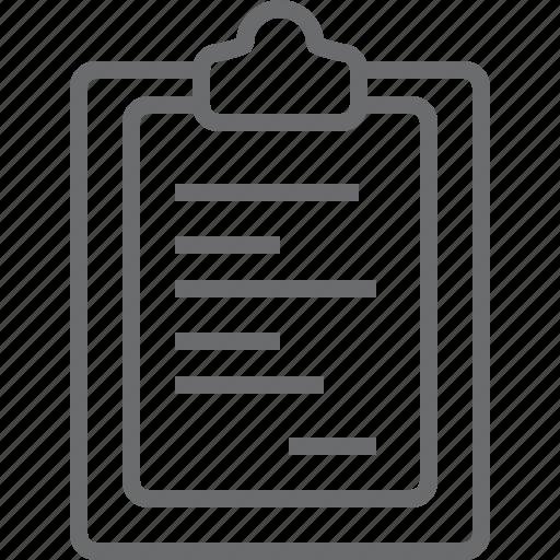 checklist, clipboard, paper icon