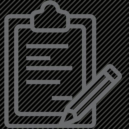 clipboard, edit icon