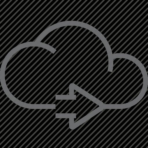 cloud, next icon