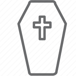 coffin, death, scary icon