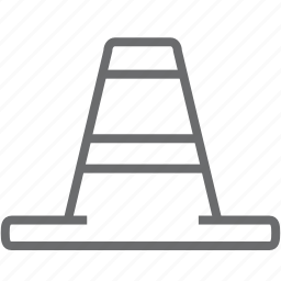 building, cone, construction, equipment icon