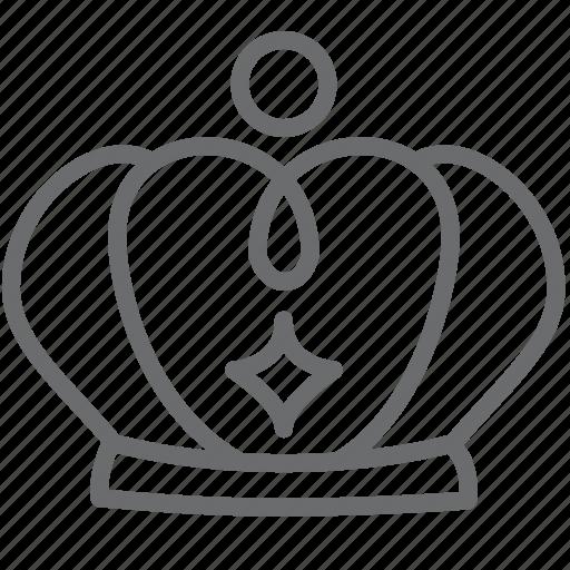 Crown, king, royal icon