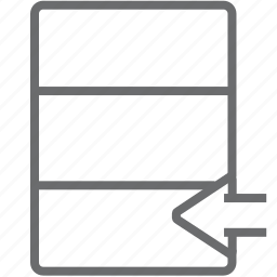 database, previous icon