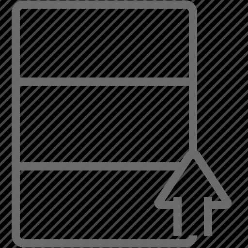 database, up icon