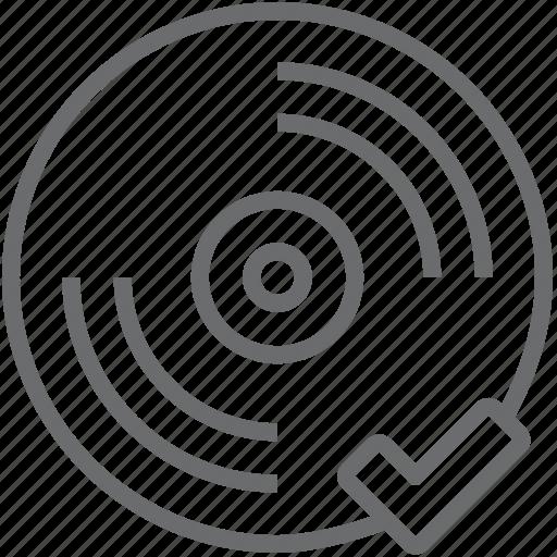 checked, disc icon