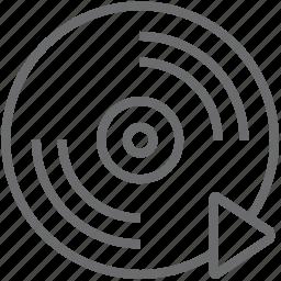 disc, forward icon