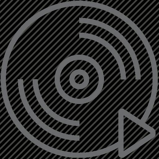 Forward, disc icon