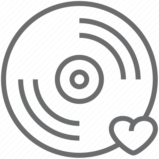 disc, love icon