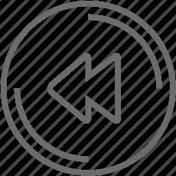 disc, music, previous icon