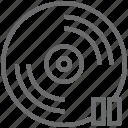 disc, stop icon