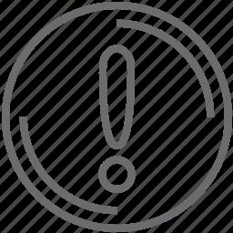 disc, warning icon