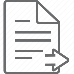document, right icon