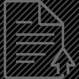 document, up icon