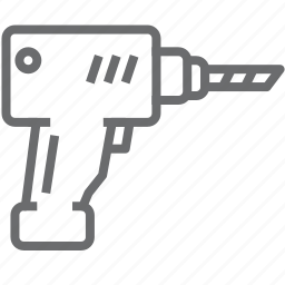construction, drill, driller, equipment icon