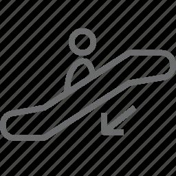 down, evelator icon
