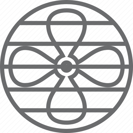 air, fan, wind icon