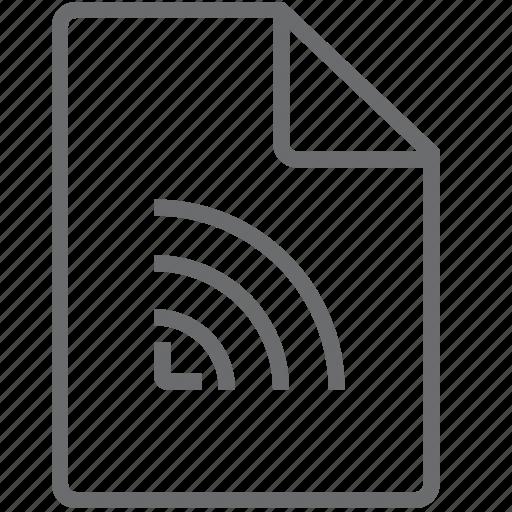 data, file, signal icon