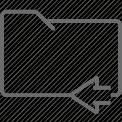 folder, previous icon