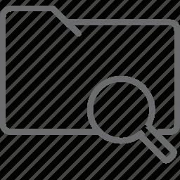 folder, search icon