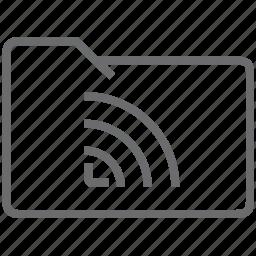 folder, signal icon