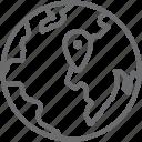 globe, locator icon