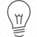 bulb, creative, electricity, lamp, light, lightbulb, lightning icon