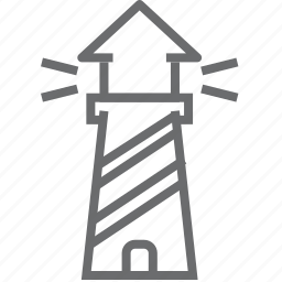 house, light, lighthouse, sea, ship, tower icon