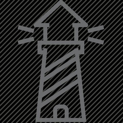 house, light, lighthouse, sea, ship, tower icon