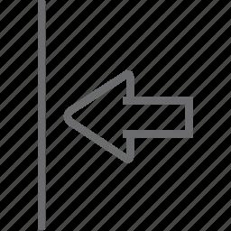 left, limit icon