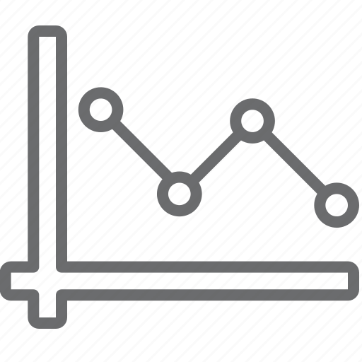 chart, decrease, line icon