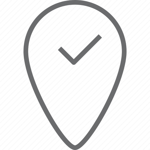checked, location icon