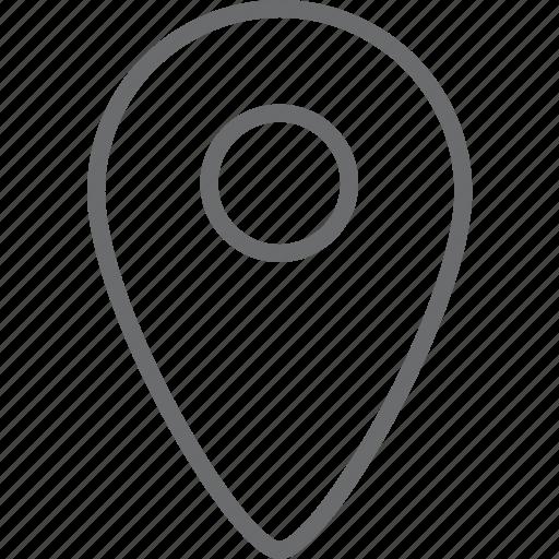 circle, location, point icon