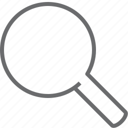 magnifier, search, zoom icon