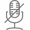 microphone, mute icon