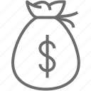 bag, bank, currency, dollar, financial, money, money bag icon