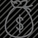 bag, bank, currency, dollar, financial, money, money bag