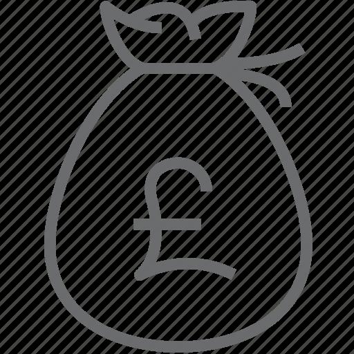 Bag, pound, money icon