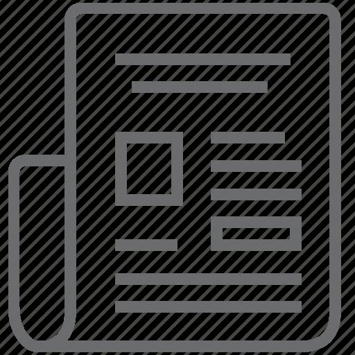article, magazine, newspaper, press icon