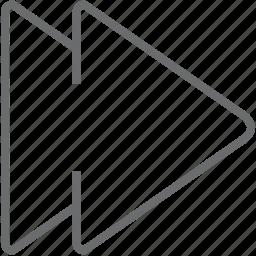 arrow, arrows, direction, next icon