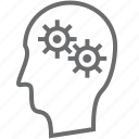 gears, person icon
