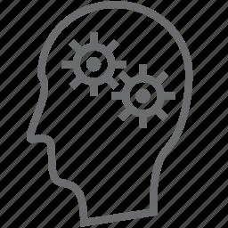 gears, person icon