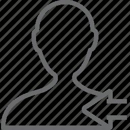 person, previous icon
