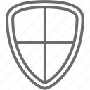 cross, shield icon