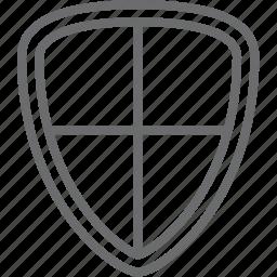 cross, shield icon