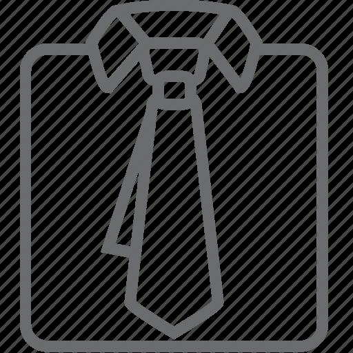 shirt, tie icon