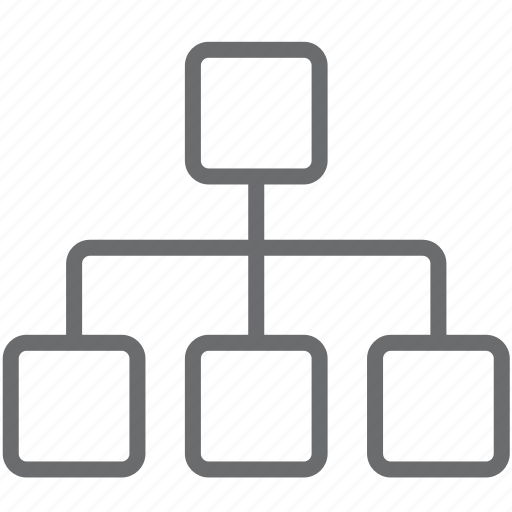 chart, hierarchy, sitemap, structure icon